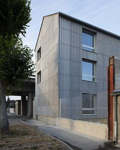 NP2F Architectes Student House, Contemporary Architecture, Cladding, Multi Story Building, Shapes, Metal, Outdoor Decor, Inspiration, Home Decor