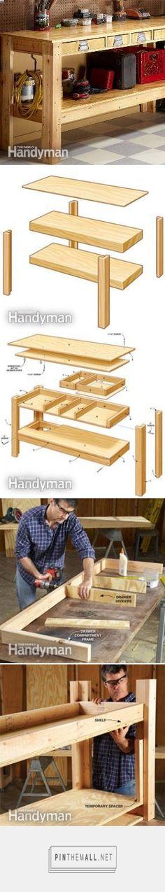 Modular workbench the family handyman cabinets and for Handyman plans