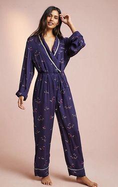 3e15bf3e312 Anthropologie Floreat Printed Pajama Jumpsuit Bird Size PXS NWT  fashion   clothing  shoes