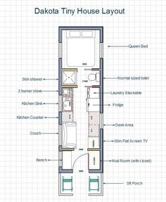 1000 images about tiny house on wheels on pinterest for Long narrow office layout