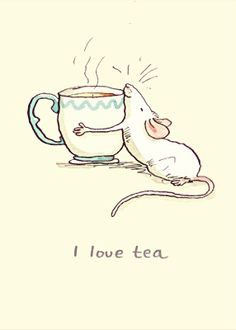 """I love tea"" Anita Jeram"
