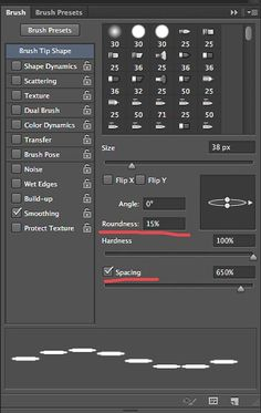 Creating Dashed Lines in Photoshop