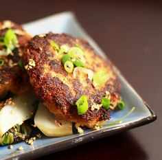 Salmon Cakes with Bokchoy