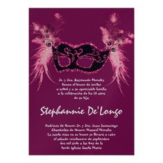 20 best quinceanera invitations in spanish images on pinterest