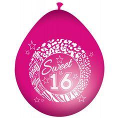 Ballonger - 30cm - Sweet 16 #Bursdagsballonger Sweet 16, Sweet Sixteen, Christmas Bulbs, Decorative Plates, Holiday Decor, Products, Christmas Light Bulbs, Beauty Products, Gadget