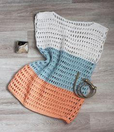Summer tunic crochet. Летняя туника вязаная крючком. Размер 42 - 46  #ВязаниеКрючком #туника #весна #лето Ателье в Тольятти