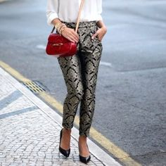 Just bought brocade pants, must know how to wear them
