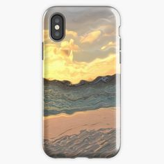 """""""Sandy beach and see in pastel shades - new view of the World"""" iPhone Case & Cover by Artlajf   Redbubble New View, Pastel Shades, Iphone Case Covers, Iphone 11, Abstract, Beach, Nature, Art, Summary"""