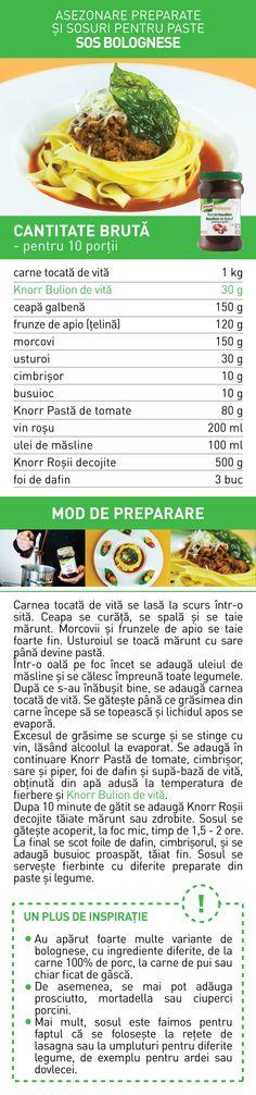 Asezonare preparate si sosuri pentru paste - RETETE Paste, Bologna, Vegetables, Food, Celery, Essen, Vegetable Recipes, Meals, Yemek