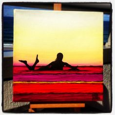 Glide Girl surf art by David Bell from Photo ReoSurf