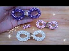 Laço de pérolas Jaque #gleicykellybarbosa - YouTube Tatting Jewelry, Bead Jewellery, Beaded Jewelry, Bead Embroidery Patterns, Beaded Embroidery, Beading Patterns, Diy Leather Bows, Robes Tutu, Diy Hair Accessories