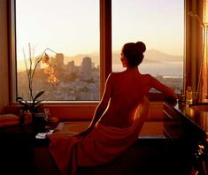 Mandarin Oriental - San Francisco, California. The tub is right up against the glass. Spectacular views. Love it!
