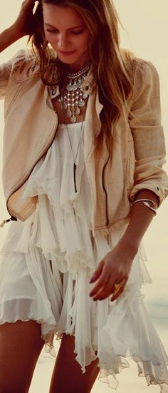 Free People - Bohemian Style. love this, wish I was stil young enough to wear it!  Maybe a little longer....