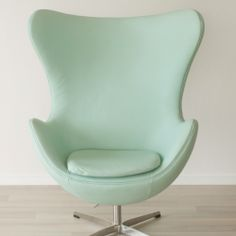 Mint Leather Rocking Egg Chair - The Block Shop - Channel 9