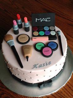 Trendy Ideas For Birthday Makeup Cake # Birthdays ma. Trendy Ideas For Birthday Makeup Cake # Birthdays makeup Trendy Ide Makeup Birthday Cakes, Birthday Cake For Mom, Birthday Cakes For Women, Birthday Cupcakes, Make Up Torte, Make Up Cake, Girly Cakes, Fancy Cakes, Mac Cake