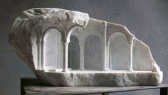Artist and sculptor Matthew Simmonds carves small-scale interiors into marble. Inspired by a lifelong fascination with stone buildings, Matthew's work takes stone architecture (particularly sacred ...