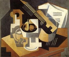 Juan Gris - Guitar with Fruit Dish - 1918