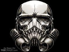 The Skull Trooper T-Shirt - http://teecraze.com/the-skull-trooper-t-shirt/ - Designed by BlackoutBrother