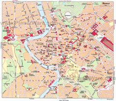 Heather - thought you might like this! Really good Map of Rome Attractions and neighborhoods | PlanetWare