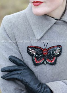 #embroidery #butterfly #brooch #beads #вышивка #брошь #бабочка #бисер https://vk.com/art_beads