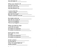 Worksheets Song Analysis Worksheet 1 song lyrics analysis worksheet httpswww teacherspayteachers demonds by imagine dragons non violence day