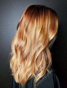 Soft Copper balayage The best things in life can be very simple A Copper Balayage, Balayage Highlights, Honey Balayage, Red To Blonde, Brown Blonde, Brown Hair, Red Hair Color, Hair Painting, Ginger Hair