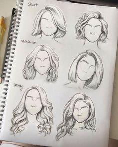 Art Drawings Sketches Simple, Pencil Art Drawings, Easy Drawings, Drawings Of Hair, Sketch Art, Easy Sketches To Draw, Drawings Of Girls, Horse Drawings, Anime Sketch