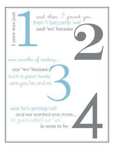 Pregnancy Poem Announcement.