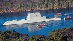 Foto: El DDG-1000 estadounidense de la clase Zumwalt.