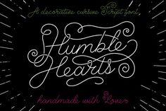 Humble Hearts hipsta font - Script