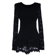 Elegant Ruffle Lace Splicing Long Sleeve Women's BlouseBlouses | RoseGal.com