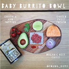 Baby Burrito Bowl | Weaning | Baby Dinner Recipes | Brazilian Baby Jackets from Young Gums | http://www.rockmyfamily.co.uk/five-clean-baby-dinners/