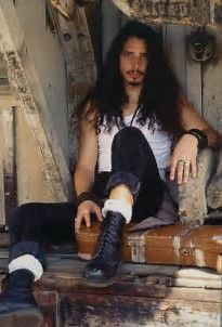 Image result for Young Chris Cornell Long Hair