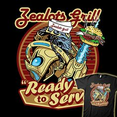 Zealot Grill - Starcraft Shirt from J!inx