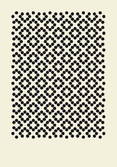 artsy black and white pattern