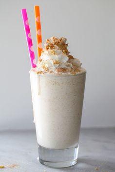 The kids will love this one! Cinnamon Toast Crunch Milkshake on foodiecrush.com @foodiecrush