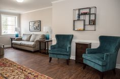 In honor of TBT, we've got a major before and after for ya. 🙈Are you ready for this. Villa, Charlottesville, Wingback Chair, Accent Chairs, Pillows, Bed, Apartments, Furniture, Home Decor