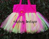 Pink and Lime Tutu Tote bag