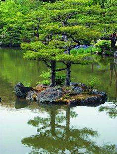 """JAPANESE GARDENS  ISE-Shrine.        Out. Shrine. Magatama-Ike. """"-"""""""