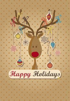 12 Bonitas plantillas de tarjetas navideñas de felicitación en formato vectorial | TodoGraphicDesign