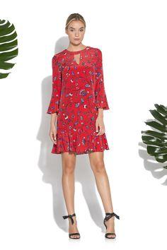 a649e09ea5 Botanical Floral Print Sotero Dress. Shoshanna Showroom