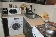 Image result for washing machine in kitchen small house