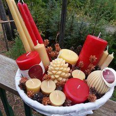 Beeswax Honey Candles® :) Nice basket Marlie!