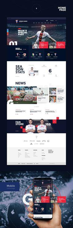 Official Football Site - Górnik Zabrze on Behance