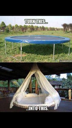 Trampoline hammock