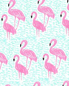 Flamingos and Waves by Bouffants and Broken Hearts