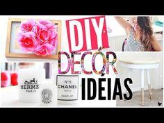 DIY: Idéias de decoração para uma casa Pinterest!! - por Aline Pepe - YouTube