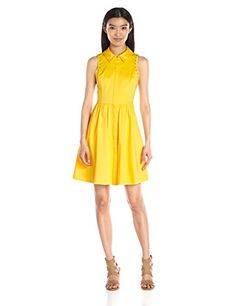 Jessica Simpson Womens Cotton Sateen Shirt Dress Buttercup 2 -- You can find out more details at the link of the image.