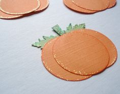 pumpkins with circle punches easy crafts