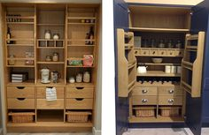Our Walk-in and Open out Pantry Designs can re-dedicate an existing utility room and customise the layout to suit your needs.